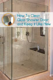 preventing hard water stains on shower doors ideas