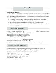 Optician Resumes 74 Best Of Gallery Of Sample Resume For Optical Sales Sample