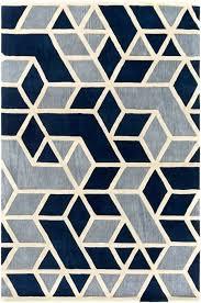 rhombus geometric rug in navy blue grey and bone white black uk wool chevron black white geometric rug