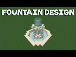 minecraft tutorial how to make a fountain