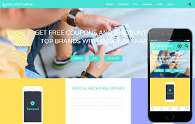Free Website Templates Html Gorgeous Easy Recharge A Online Bootstrap Responsive Web Template Website