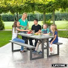 fantastic lifetime bench table or lifetime 6ft 182m rough cut picnic table 62 lifetime 80123 folding