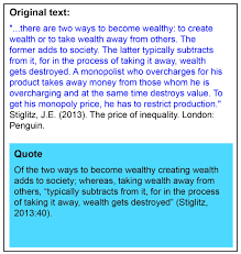 Example Of Quoting Paraphrasing Quoting And Summarising
