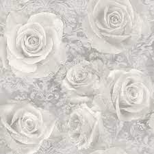Reverie Rose Wallpaper Silver Arthouse ...
