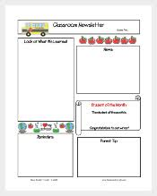 Monthly Newsletter Template For Teachers 134 Newsletter Templates Free Sample Example Format Download
