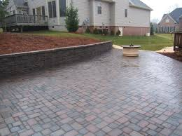 Backyard Paver Designs Custom Outdoor Garden Dazzling Patio Paver Design With Slate Picture