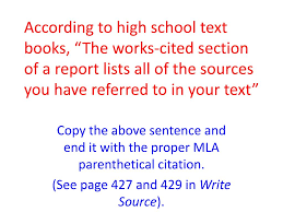 Ppt Copy The Above Sentence And End It With The Proper Mla