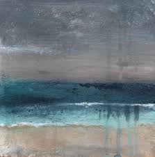 abstract landscape painting after the storm abstract beach landscape by linda woods