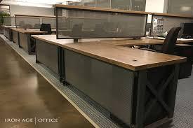 industrial office desks. Industrial Office Furniture | Modern Commercial Rustic Http://www.ironageoffice.com/ Desks L