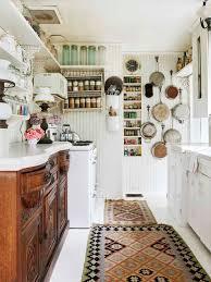 Cottage kitchen | eclectic vintage kitchen decor | open shelving kitchen |  small kitchen organization