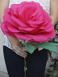 Diy Giant Paper Rose Flower Diy Giant Paper Rose For Your Wedding Bouquet My Big Day