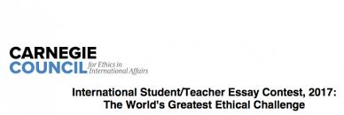 carnegie council international student teacher essay contest  submission