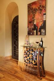 wine barrel wine rack furniture. Simple Rack Hall Table With Wine Rack Made An Old Barrel And Wine Barrel Rack Furniture S