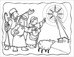 Nativity Scene Coloring Pages Printable Lds Free Sheets For Kids