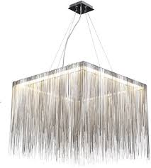 avenue lighting hf1203 ch fountain ave led 24 inch chrome chain hanging chandelier ceiling light