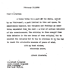 albert einstein s surprising thoughts on the meaning of life big  letter from albert einstein to robert s marcus 1950 discussing what he believed to be one fundamental truth of a life worth living