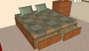 king storage bed plans. King Size Storage Bed Plans H