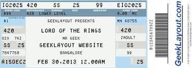 Fake Concert Ticket Generator Wedding Planning Concert Ticket