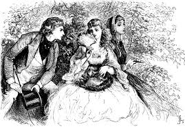 border crossings a review of claudia nelson s precocious left to right a the girlish dora before marriage paying more attention to her flowers than her suitor as david copperfield gazes at her yearningly