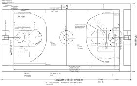 basketball court size for ncaa nba