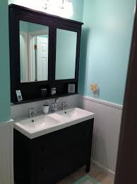 double sink small bathroom