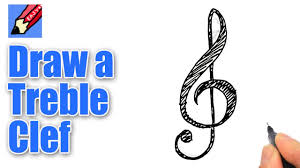 How To Draw A Treble Clef Real Easy Youtube