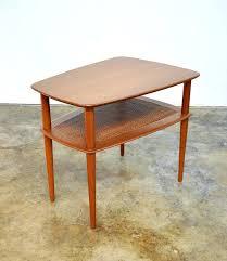 teak coffee table kijiji side with umbrella hole small danish peter