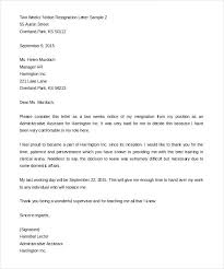 One Weeks Notice Letter Two Weeks Notice Resignation Template Lytte Co