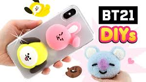 chimmy cooky diy phone case koya plush from bt21