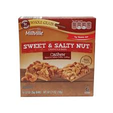 millville sweet salty cashew bars