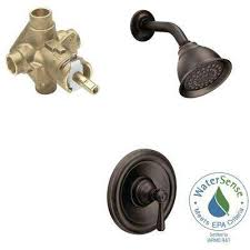 kingsley single handle 1 spray eco performance shower faucet trim kit with valve