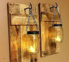 wall mounted glass candle holders hanging candles outdoor lighting ideas with mason jar wire and reclaimed