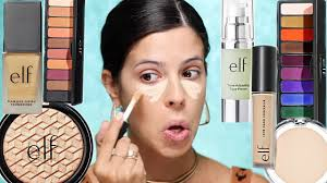 i tried a full face of new elf makeup elf just went off