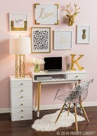 gallery home office decorating ideas. Office Decor, White Desk, Blush Pink Wall, Gallery Acrylic Chair Home Decorating Ideas 1