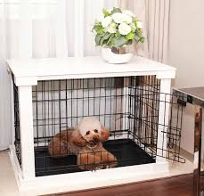 This cute dog crate turns a traditional pet cage into a functional table  surface, which