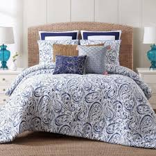 Indienne Paisley Twin XL Comforter Set In Navy/White  Bed Bath \u0026 Beyond a