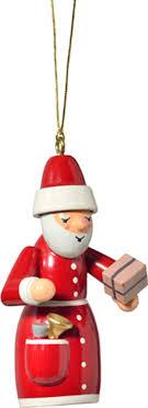 Christbaumschmuck Weihnachtsmann Mit Geschenk 7 Cm