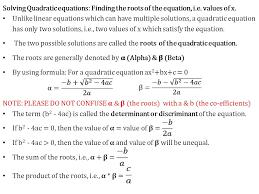 22 solving quadratic