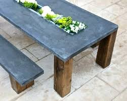 modern concrete patio furniture. Delighful Furniture Concrete Patio Table And Bench Tables Cement  Modern Outdoor Furniture Intended Modern Concrete Patio Furniture O