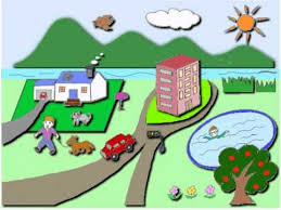 clickable word picture for kids neighbourhood