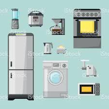 Kitchen Appliances On Credit Kitchen Appliances Flat Icons Set Set Of Cooking Elements Stock