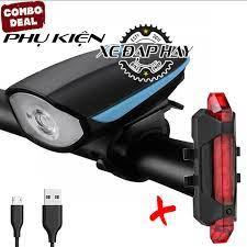 Đèn Xe Đạp Có Còi   Đèn Hậu Sạc USB BS216, Đèn Hậu Xe Đạp HYD186 Nháy 2 Màu  Xanh/Đỏ giá cạnh tranh