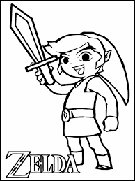 Select from 35450 printable coloring pages of cartoons, animals, nature, bible and many more. Zelda Coloring Book 10