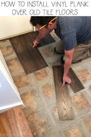 install vinyl plank over tile floors
