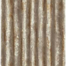 brewster rust corrugated metal industrial texture wallpaper