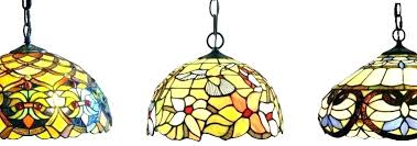 decoration stained glass hanging lamp vintage leaded light chandelier shade rainbow colorful lighting tiffany pendant