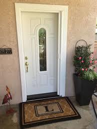 white single front doors. Brilliant Front StowAway Single Front Door Retractable Screen With White Pet Mesh   Retracted Inside Doors M