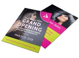 Now Open Flyer Template Salon Grand Opening Flyer Template