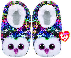 Beanie Boo Slippers Size Chart Owen The Multicoloured Owl Slippers Medium