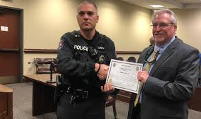 Gaffney officer honored after catching burglary as it happened